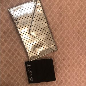 NWT J.Crew Heart Clutch